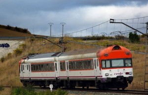 Ejemplo de tren Zaragoza Pamplona.