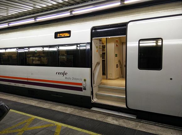Obras de mejora de la estación de trenes de Portbou en 2018