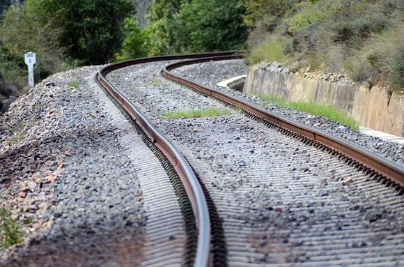 Renovación de la vía de los trenes Santander Palencia octubre 2018