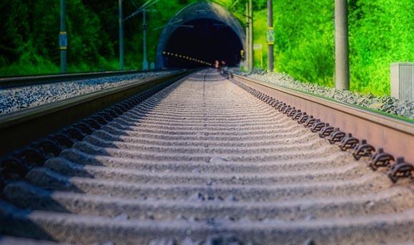 Tramo de trenes Sagunto Castellón de ancho mixto agosto 2019